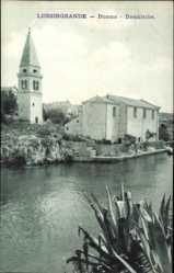 Postcard Lussingrande Veli Lošinj Kroatien, Duomo, Domkirche