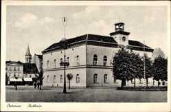 Ak Ostrów Wielkopolski Ostrow Poznań Posen, Rynek, Ratusz, Rathaus