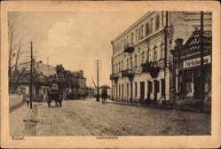 Postcard Kowel Ukraine, Partie in der Luzkerstraße, Feldbuchhandlung