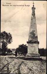 Postcard Kowel Ukraine, Blick auf Denkmal der Napoleonischen Kriege, Straße