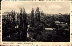 Ak Riesa an der Elbe Sachsen, Blick auf Parkanlage mit Umgebung
