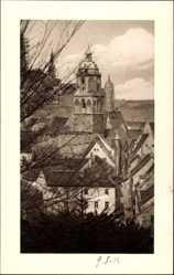 Ansichtskarte / Postkarte Meißen, Blick vom Judenberg in die Rosengasse, Turm, Fenster, Bäume