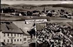 Postcard Moosbach Oberpfalz, Stadtpanorama, Metzgerei, Gasthof, Inh. H. Bodensteiner