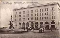 Postcard Helsinki Helsingfors Südfinnland, Suomi Yhtion talo Kauppatorin varrella