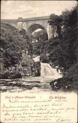 Postcard County Wicklow Irland, Poul a Phouca Waterfall, Bridge