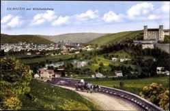 Postcard Eichstätt in Oberbayern, Straßenpartie mit Stadt und Willibaldsburg