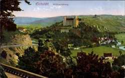 Postcard Eichstätt in Oberbayern, Panoramablick auf Stadt mit Willibaldsburg