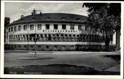 Postcard Merzig, Blick auf die Kreissparkasse, Vorderansicht