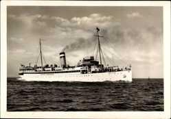 Postcard Turbinenschnelldampfer Kaiser, HAPAG Seebäderdienst