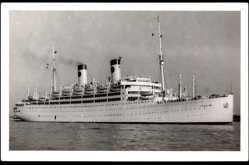 Foto Ak Dampfschiff MS Italia, HAPAG, Früher Home Lines