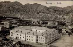 Postcard Cetinje Montenegro, Teilansicht der Ortschaft, Berge, Häuser, Platz