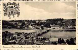 Ak Krosno Odrzańskie Crossen Oder Ostbrandenburg, Flusspartie, Brücke