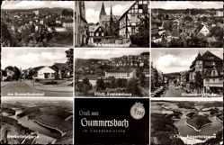 Postcard Gummersbach im Oberbergischen Kreis, Schöppenstuhl, Aggertalsperre