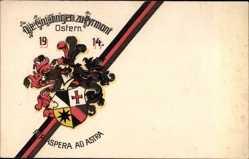 Studentika Ak Bad Pyrmont in Niedersachsen, per aspera ad astra 1914