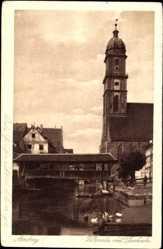 Postcard Amberg in der Oberpfalz Bayern, Vilspartie mit Pfarrkirche