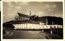Postcard Altenberg Odenthal, Blick von der Straße auf Haus Altenberg und Dom