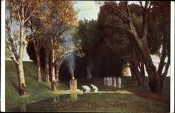 Künstler Ak Böcklin, Arnold, Heiliger Hain, The sacred Grove