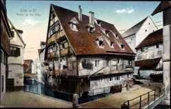 Postcard Ulm an der Donau Baden Württemberg, Wohnhaus an der Blau