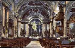 Postcard Amberg in der Oberpfalz Bayern, Innenansicht der Bergkirche