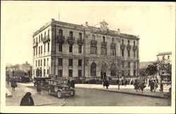 Postcard Constantine Algerien, Hotel des Postes, Straßenpartie mit Blick auf Postamt