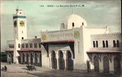 Postcard Oran Algerien, La Nouvelle Gare PLM, Neuer Bahnhof, Collection Ideale