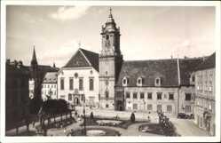 Postcard Poszony Pressburg Bratislava Slowakei, Adolf Hitler Platz, Altes Rathaus