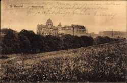 Postcard St. Wendel in Saarland, Blick über Wiese zum Missionshaus