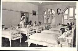 Postcard Störnstein, Blick in den Krankensaal vom Kindererholungsheim Wöllershof