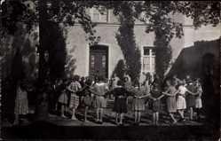 Foto Ak Störnstein, Kindererholungsheim Wöller, spielende Kinder