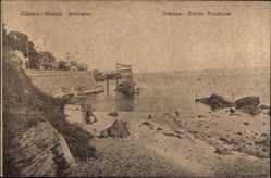 Postcard Odessa Ukraine, Kleine Fontäne, Partie am Strand