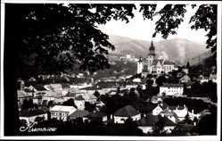 Foto Ak Kremnica Kremnitz Slowakei, Waldblick, Turmuhr, Ort