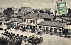 Postcard Tunis Tunesien, La gare du Sud, Südbahnhof aus der Vogelschau