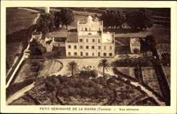 Postcard La Marsa Tunesien, Fliegeraufnahme, Petit Séminaire, Vue aérienne