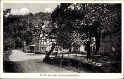 Ansichtskarte / Postkarte Kleinschönberg Klipphausen, Partie an der Schiebockmühle