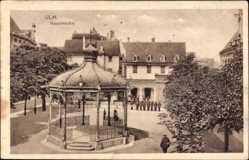 Postcard Ulm an der Donau Baden Württemberg, Die Hauptwache am Pavillon