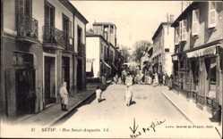 Ak Sétif Algerien, Rue Saint Augustin, Straßenpartie, Levy & Fils L.L.