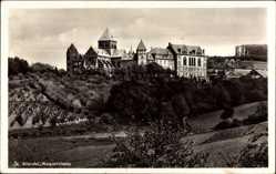 Postcard St Wendel, Blick auf das Missionshaus, Felder, Gebäude, Bäume, Fenster