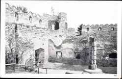 Ansichtskarte / Postkarte Hermsdorf am Kynast Schlesien, Teilansicht der Burgruine Kynast, Mauer