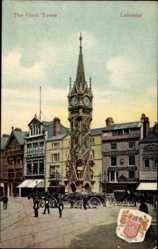 Postcard Leicester East Midlands England, The Clock Tower, Turmuhr