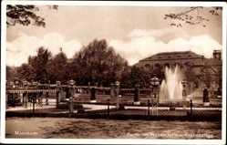 Postcard Mannheim in Baden Württemberg, Wasserturm und Rosengarten