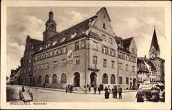Postcard Ingolstadt an der Donau Oberbayern, Straßenpartie mit Blick auf das Postamt