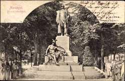 Postcard Mannheim in Baden Württemberg, Blick auf das Bismarckdenkmal