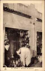 Ak Tunis Tunesien, Boutique des poteries, Töpfermarkt