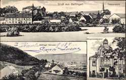 Postcard Bettingen Schmelz, Totalansicht, Bettinger Schmelz, Bürgermeisteramt