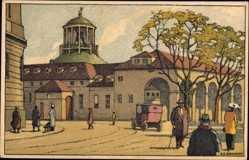 Steindruck Ak Schlatter, E.E., Stuttgart in Baden Württemberg, Straßenszene