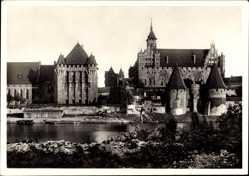 Ak Malbork Marienburg Westpreußen, Haupthaus des Deutschen Ritterordens, Schloss