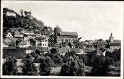 Postcard Homburg im Saarpfalz Kreis, Blick über die Dächer auf die Kirche