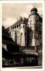 Postcard Kraków Krakau Polen, Blick auf die Burg Hühnerfuß, Fassade
