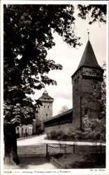 Postcard Kraków Krakau Polen, Alte Stadtmauer, Passamonnikerturm, Florianturm