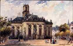 Künstler Ak Flower, Charles,Saarbrücken im Saarland, Partie an der Ludwigskirche